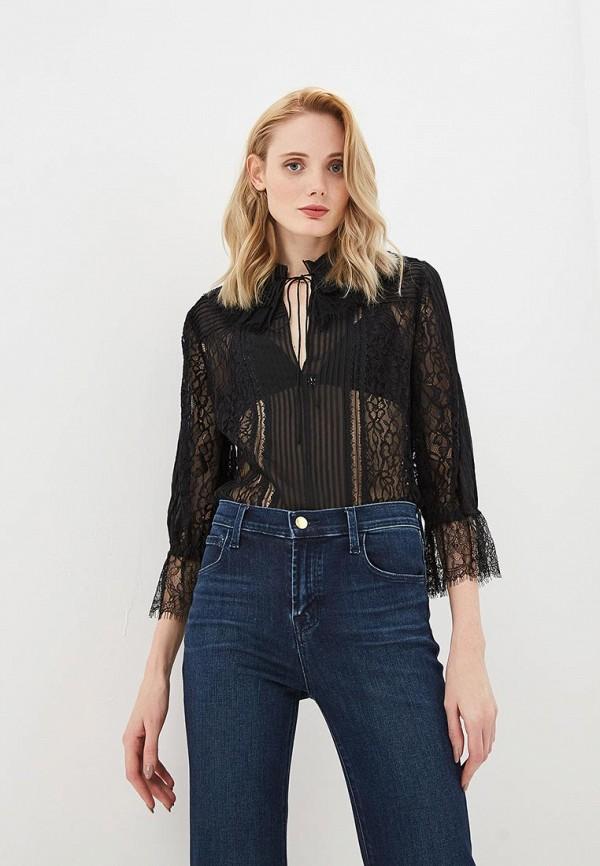 женская блузка alice + olivia, черная