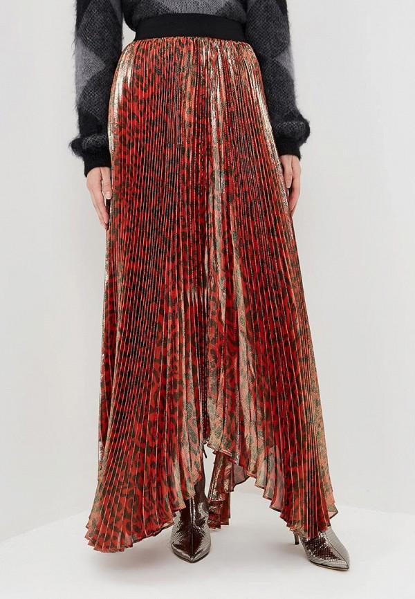 женская юбка alice + olivia, красная