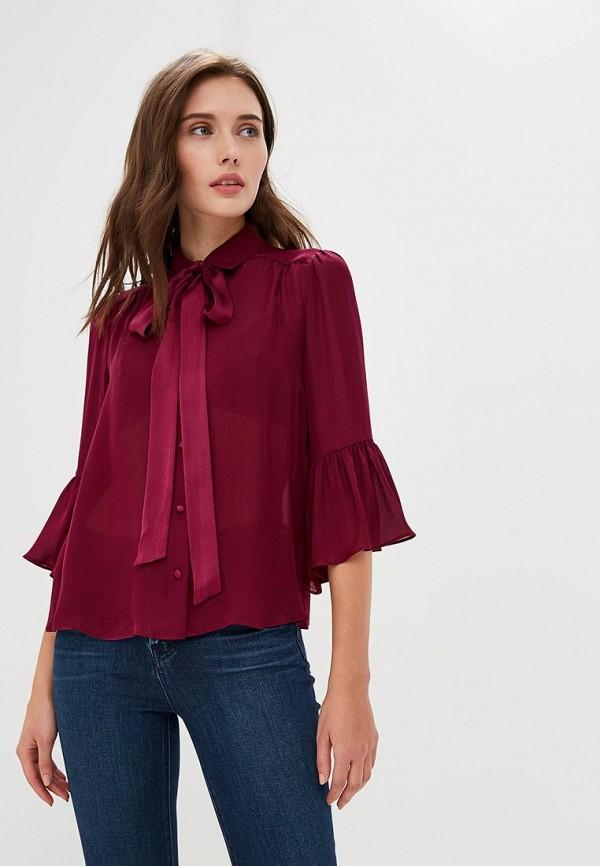 женская блузка alice + olivia, бордовая