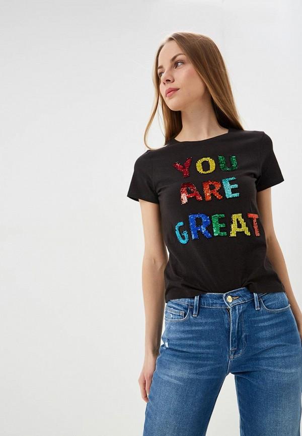 женская футболка alice + olivia, черная