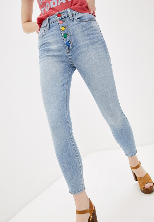 женские джинсы alice + olivia, голубые