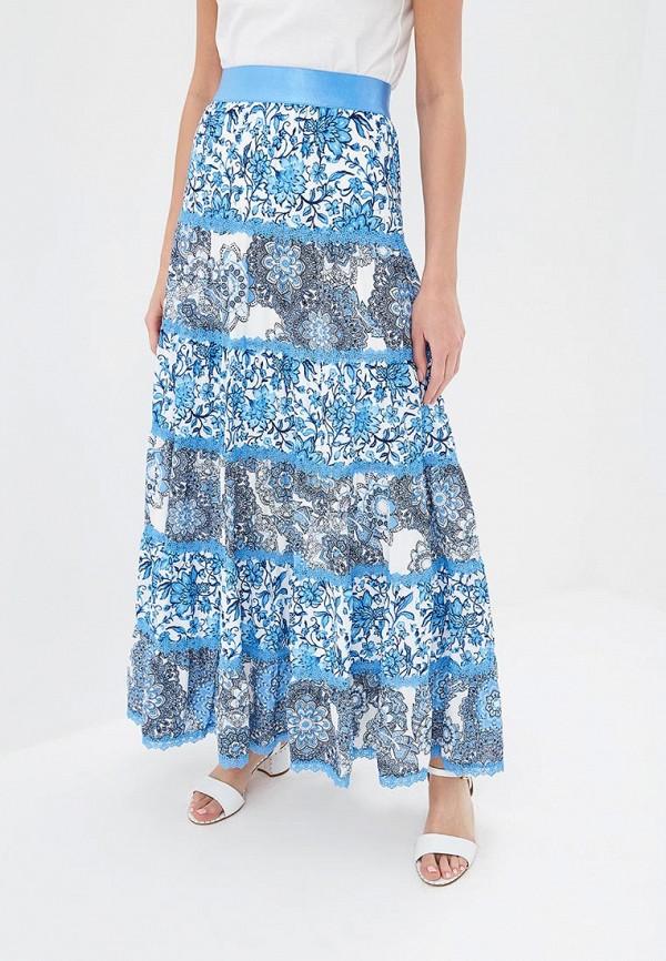 женская юбка alice + olivia, голубая