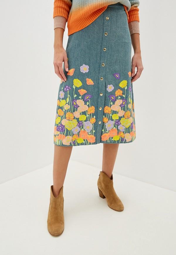 цены Юбка джинсовая Alice + Olivia Alice + Olivia AL054EWFYVU5