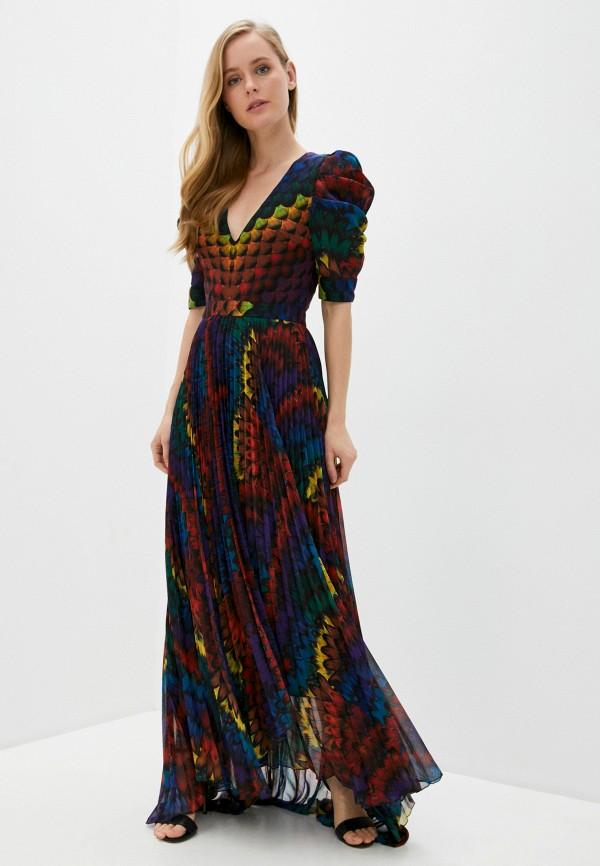 женское вечерние платье alice + olivia, разноцветное