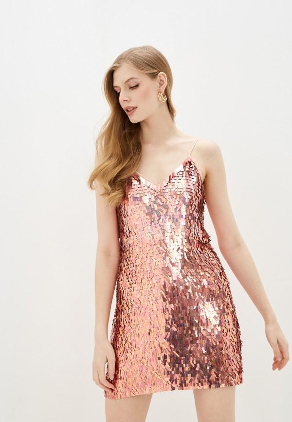женское вечерние платье alice + olivia, золотое