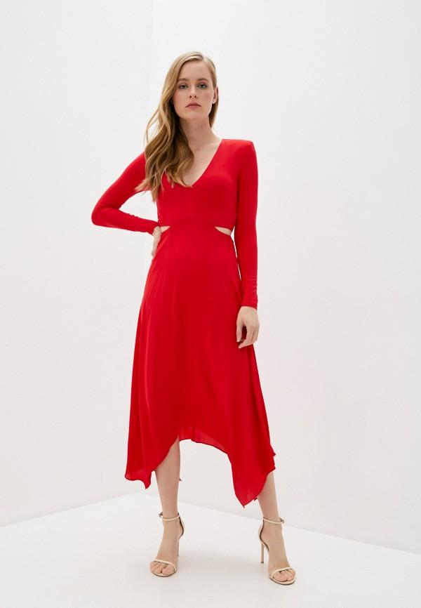 женское повседневные платье alice + olivia, красное