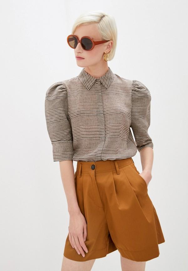 женская блузка alice + olivia, коричневая