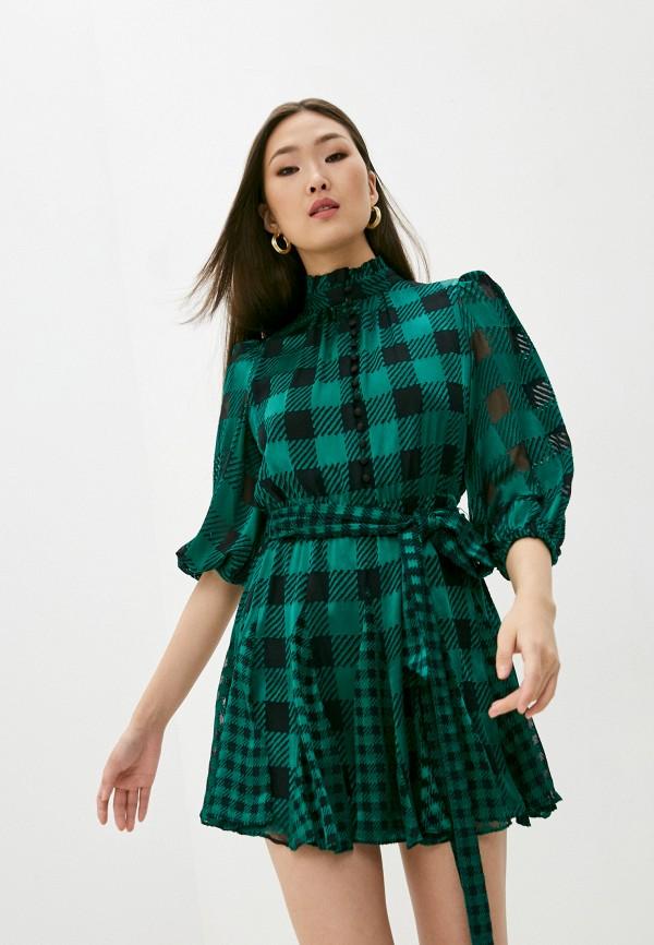 женское повседневные платье alice + olivia, зеленое