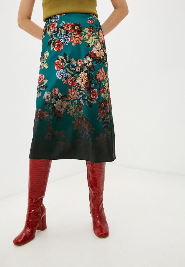 женская юбка alice + olivia, бирюзовая
