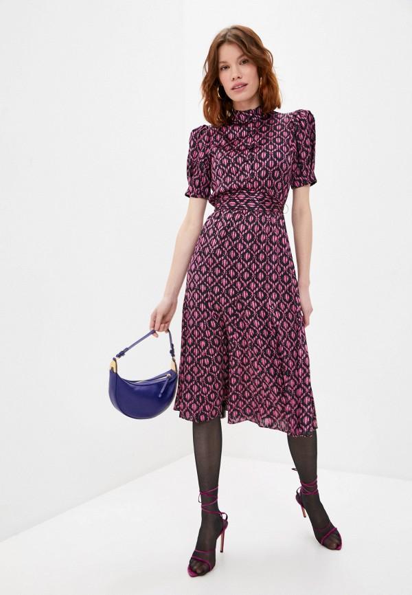 женское повседневные платье alice + olivia, фиолетовое