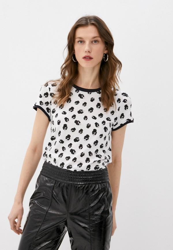 женская футболка alice + olivia, белая