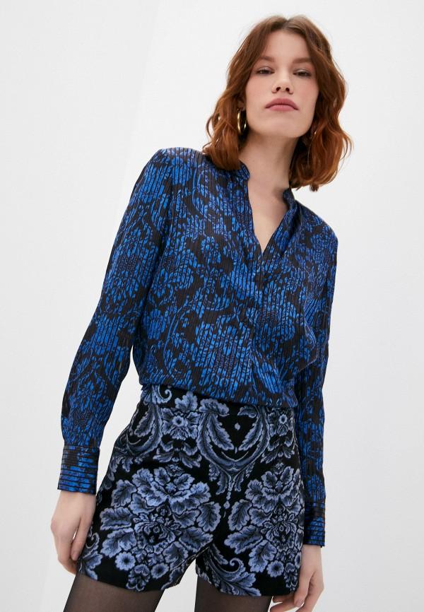 женская блузка alice + olivia, синяя