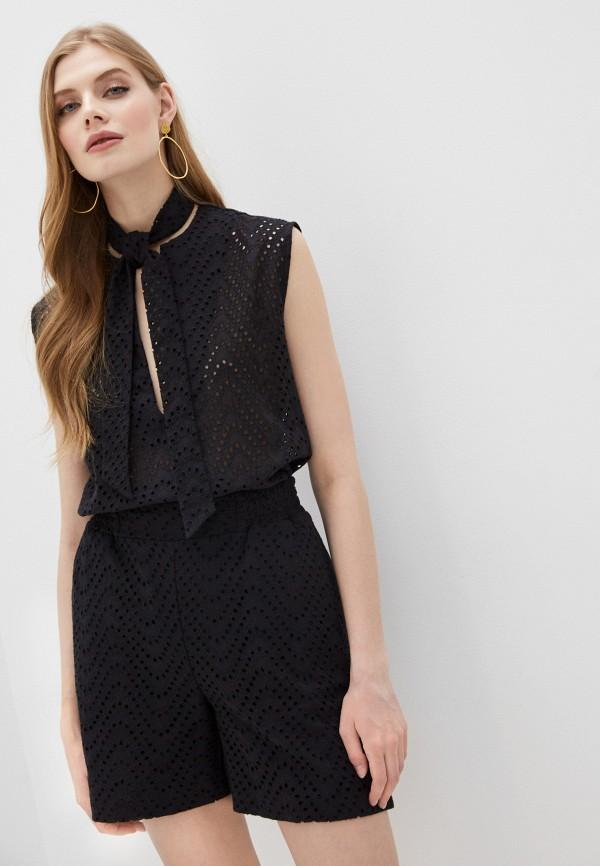 женская кружевные блузка alessandro dell'acqua, черная