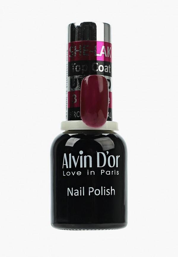 лак для ногтей alvin d'or, бордовый