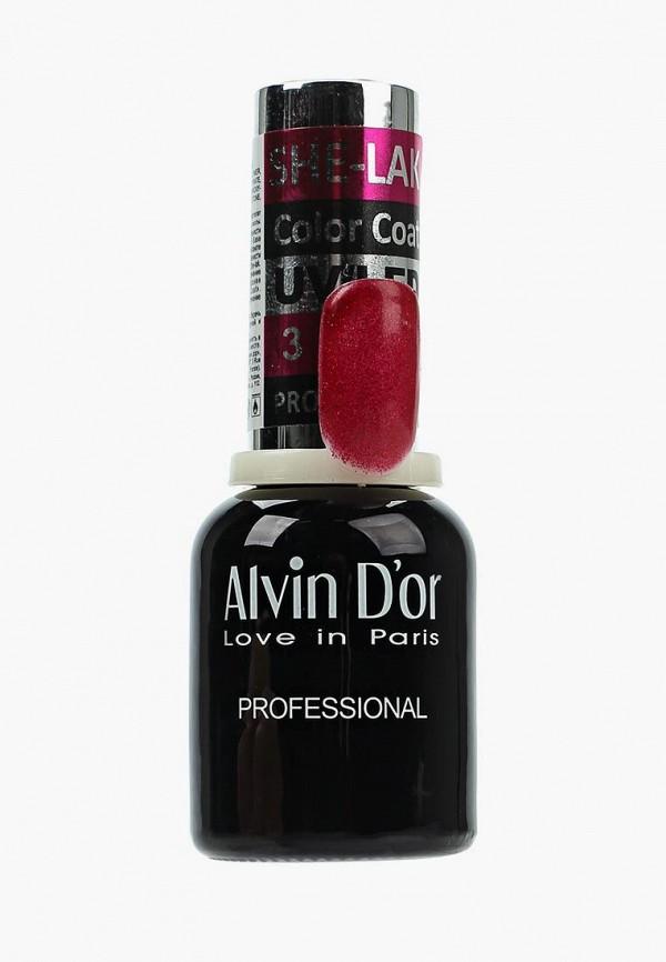 лак для ногтей alvin d'or, красный