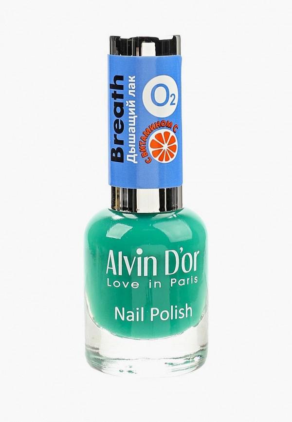 лак для ногтей alvin d'or, зеленый