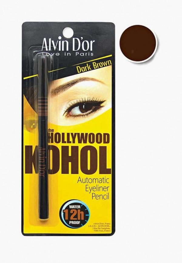карандаш для глаз alvin d'or, коричневый
