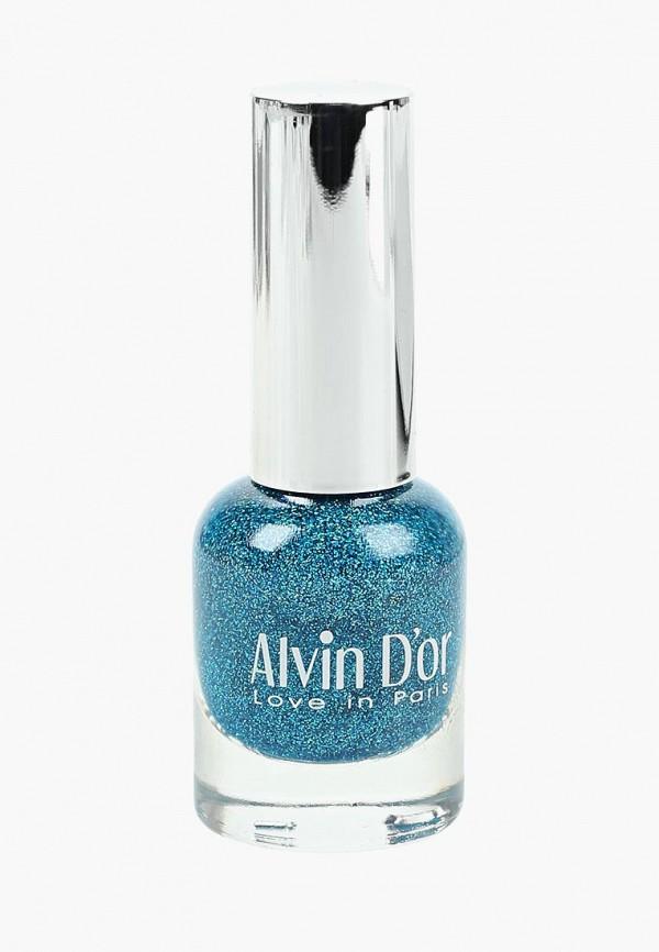 женский лак для ногтей alvin d'or, синий