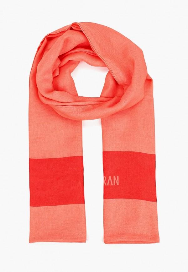 женский шарф alber zoran, оранжевый
