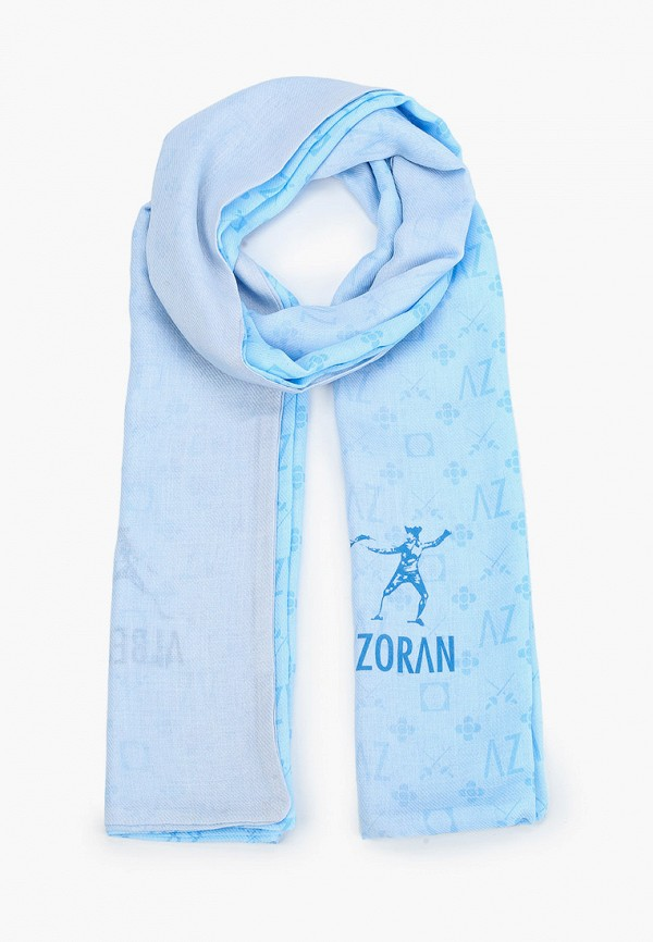 женский шарф alber zoran, голубой