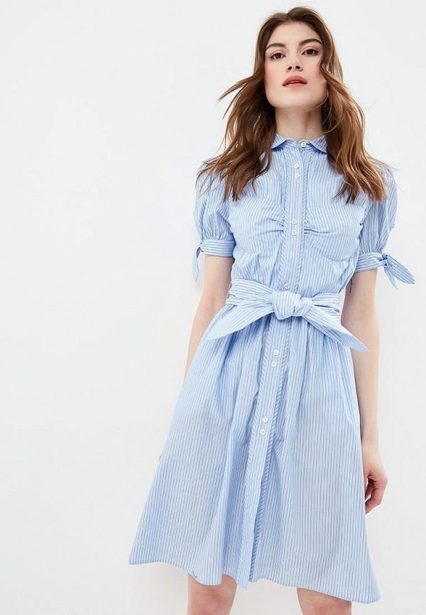 женское повседневные платье alexachung, голубое