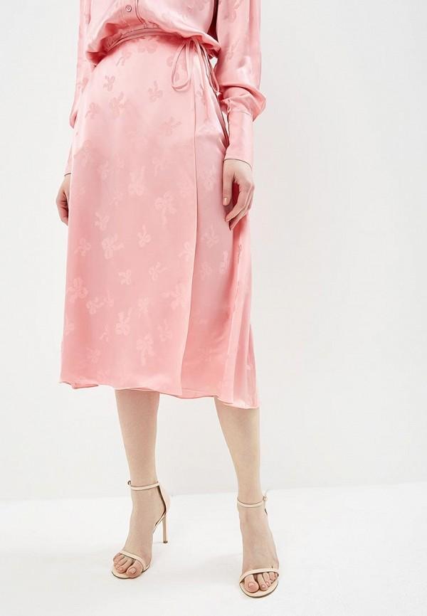 женская юбка alexachung, розовая
