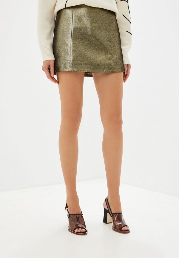 женская юбка alexachung, золотая