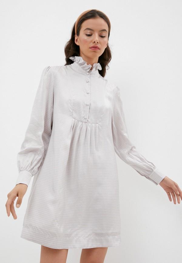 женское платье alexachung, серое