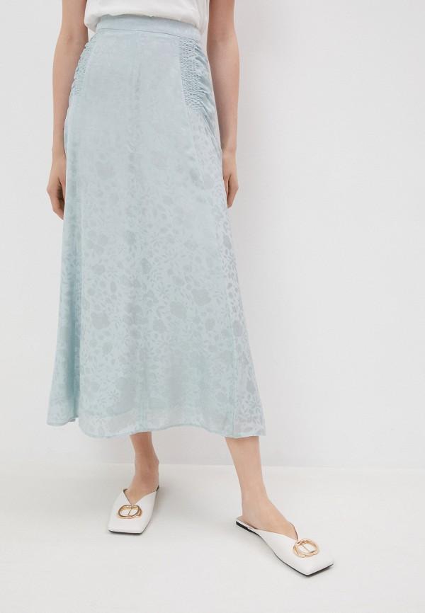 женская юбка alexachung, голубая