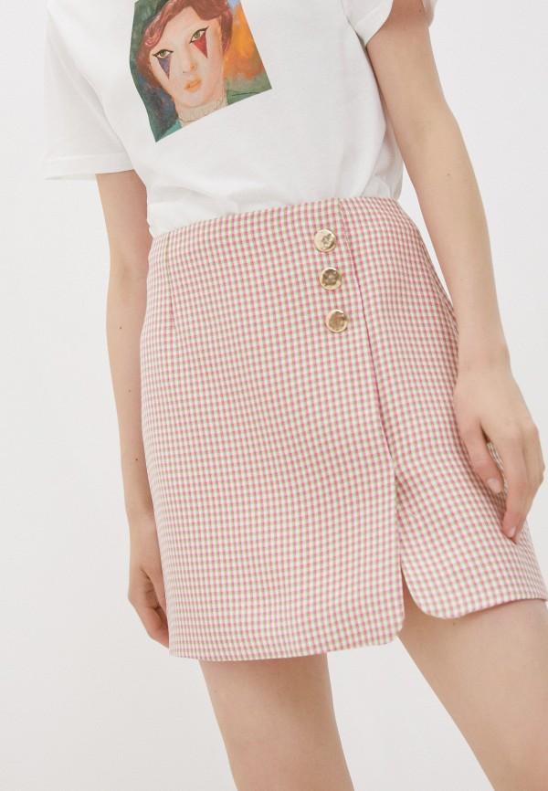 женская прямые юбка alexachung, розовая