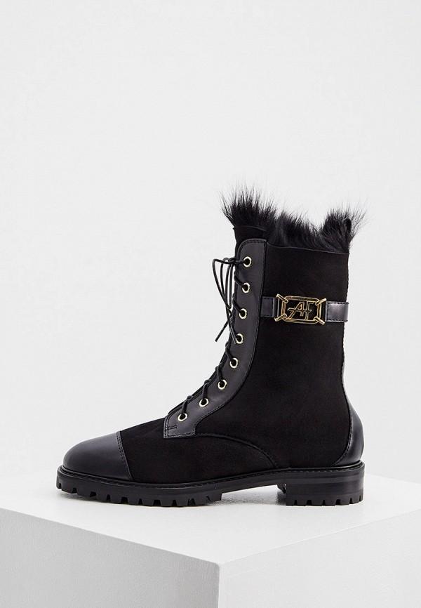 женские ботинки alberta ferretti, черные