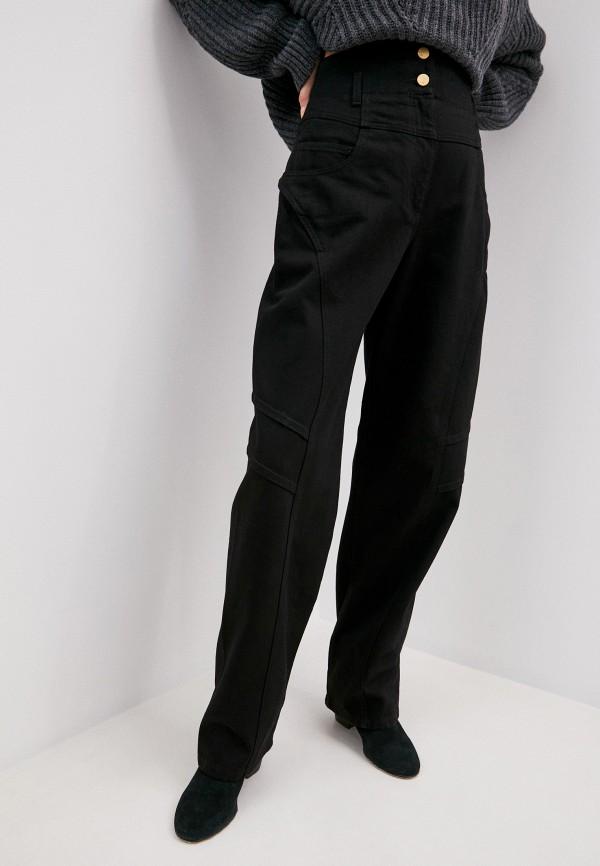 женские прямые джинсы alberta ferretti, черные