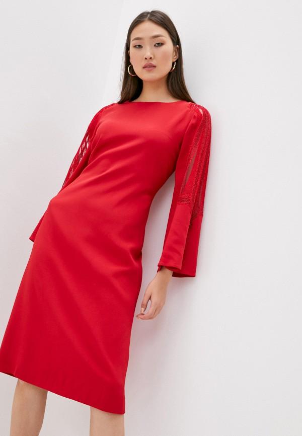 женское повседневные платье alberta ferretti, красное