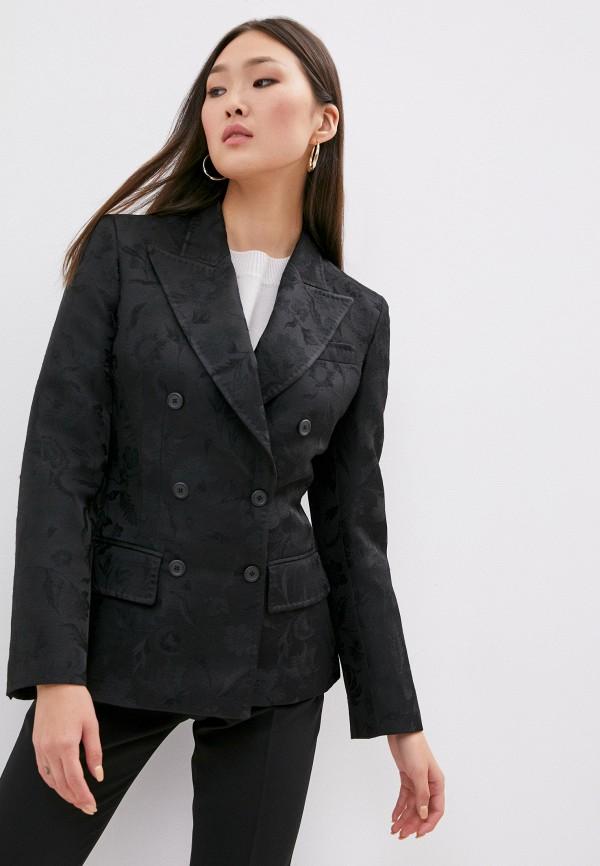 женский пиджак alberta ferretti, черный