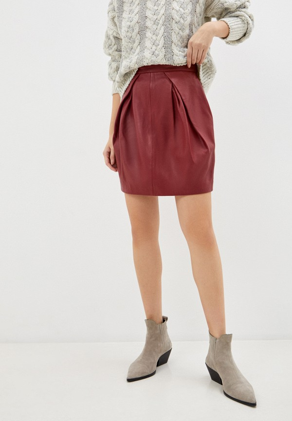 женская юбка alberta ferretti, бордовая