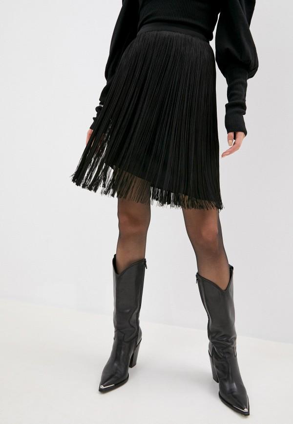женская юбка alberta ferretti, черная