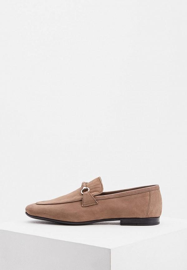 Мужские бежевые итальянские туфли лоферы