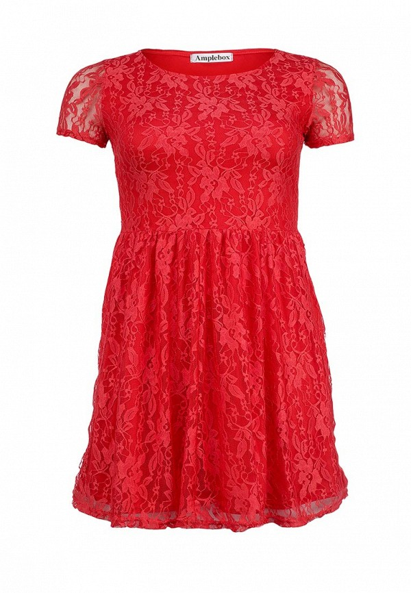 Платье Amplebox Size Plus Amplebox Size Plus AM015EWFIC40 plus size lace trim layered tunic blouse