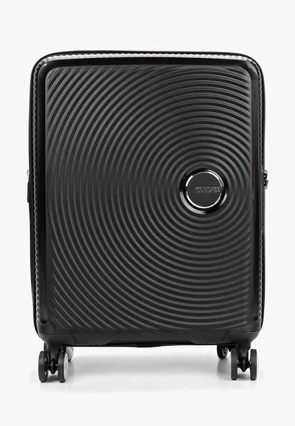 женский чемодан american tourister, черный