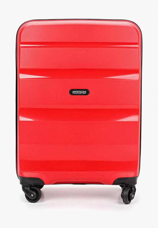 женский чемодан american tourister, красный