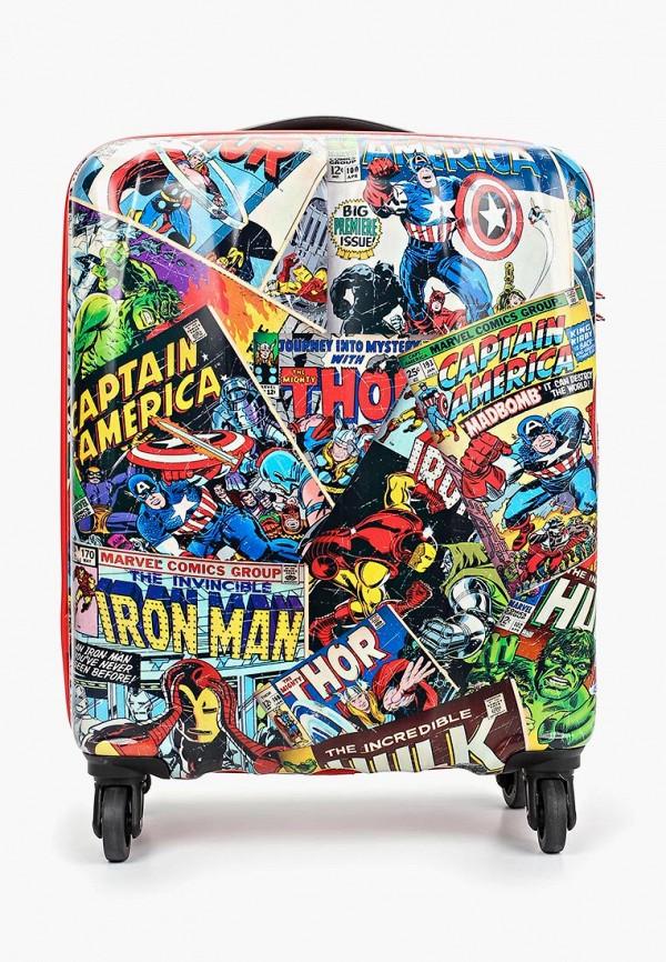 женский чемодан american tourister, разноцветный