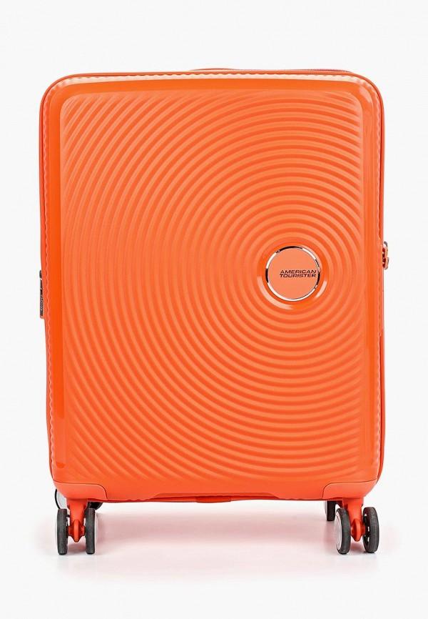 женский чемодан american tourister, оранжевый