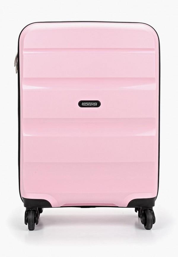 женский чемодан american tourister, розовый