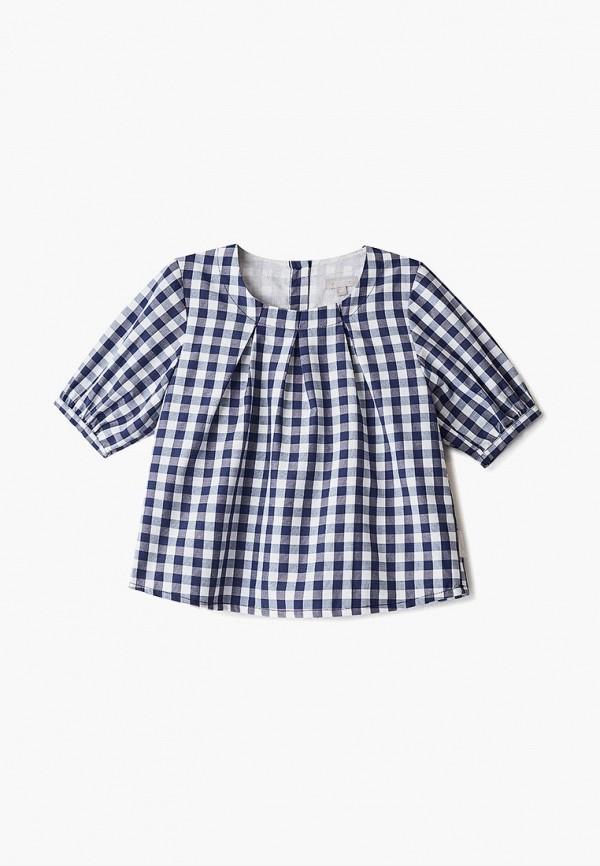 блузка amore di mamma для девочки, синяя