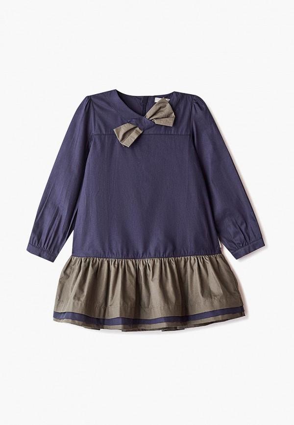 повседневные платье amore di mamma для девочки, синее