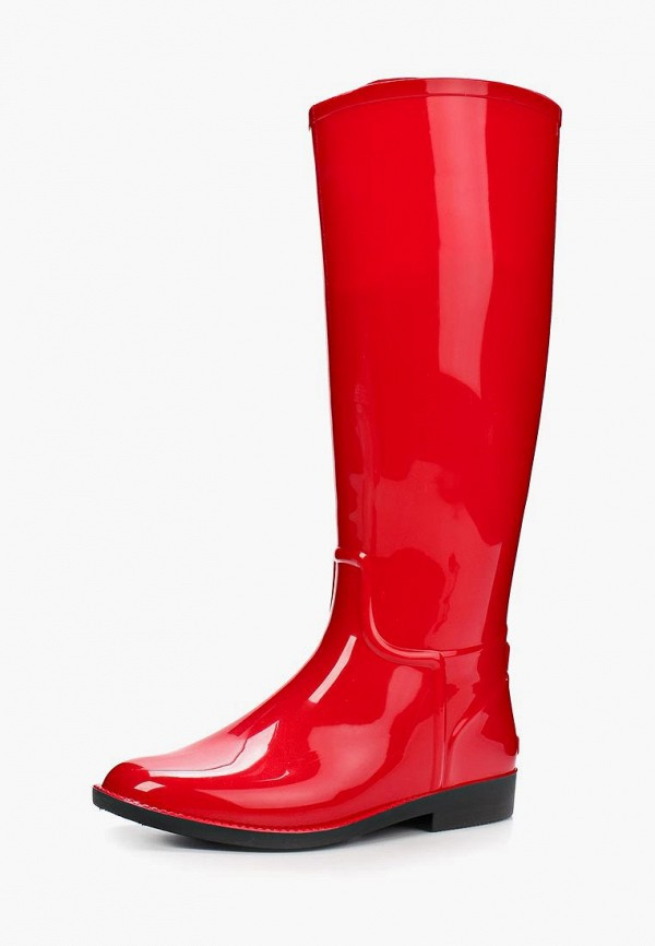 женские резиновые сапоги anra, красные