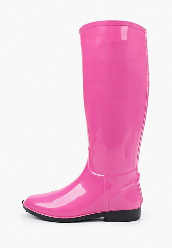 женские резиновые сапоги anra, розовые