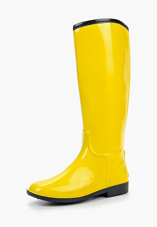 женские резиновые сапоги anra, желтые