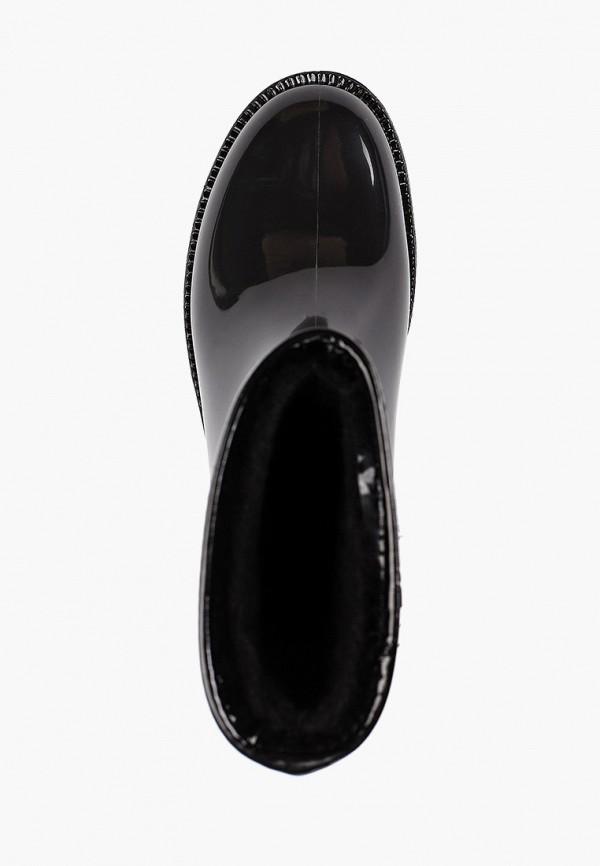 Фото 4 - Резиновые полусапоги Anra черного цвета