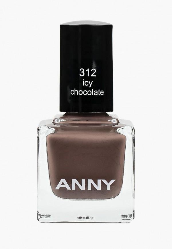 лак для ногтей anny, коричневый